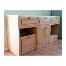 キッチンカウンター 無垢材 食器棚 キッチン作業台  KC-016