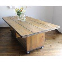 ナチュラルアンティーク風 無垢材 カフェテーブル CT-016