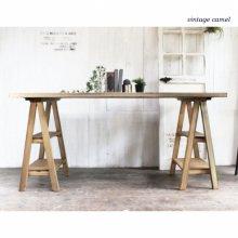 アンティーク風 無垢材 アトリエデスク 馬脚テーブル DK-007