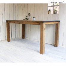 ダイニングテーブル 無垢材 130� 150� ヴィンテージ風 FORTUNA DT-023