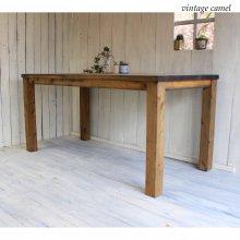 アンティーク風無垢材ダイニングテーブル フレンチカントリーテーブル DT-023