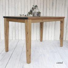 アンティーク風 無垢材のテーパー脚テーブル  DT-026