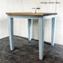 アンティーク風 無垢材 テーパー脚正方形テーブル DT-027