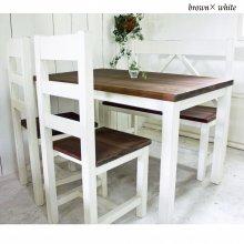 ダイニングテーブルセット ナチュラルアンティーク風 無垢材   DS-022