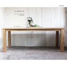 天然木 無垢材 こだわりひのきのテーブル 6〜8人用ダイニングテーブル 3�厚  DT-035