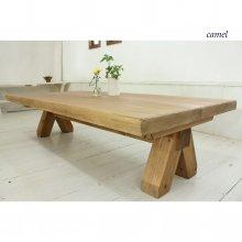 アンティーク風 無垢材の馬脚ローテーブル   LT-023