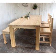 無垢材 天然木国産ひのき 6人用ダイニングセット DS-036