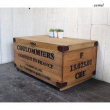 アンティーク風 無垢材 コンテナボックス コンテナテーブル 木箱  WB-011
