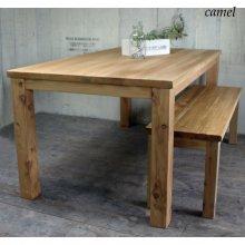 ダイニングテーブル ヴィンテージ風溝入りテーブル 無垢材 FAUSTO DT-029