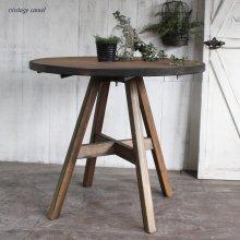 アンティーク風無垢材 ミニテーブル 円テーブル カフェテーブル MT-018