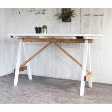 アンティーク風 無垢材の楕円ダイニングテーブル   DT-012