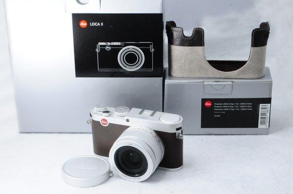 LEICA ライカ X (Typ113) シルバー 元箱、付属品一式 + 純正ボディケース + フィルター付属