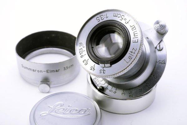 LEICA ライカ Elmar ノンコートエルマー 50mmF3.5 L + 純正フード