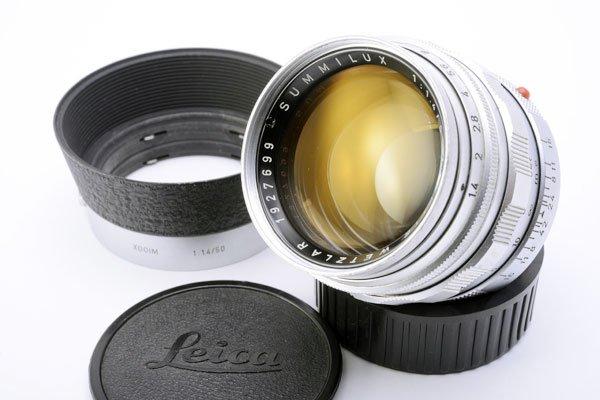 LEICA ライカ Summilux ズミルックス 50mmF1.4 第1世代 後期 M(中村光学OH済) + 純正フード