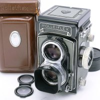 <img class='new_mark_img1' src='https://img.shop-pro.jp/img/new/icons15.gif' style='border:none;display:inline;margin:0px;padding:0px;width:auto;' />ROLLEIFLEX ローライフレックス T グレー Tessar テッサー 75mmF3.5 + 純正フード