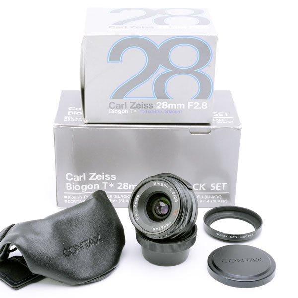 ★CONTAX コンタックス Carl Zeiss カールツァイス Biogon ビオゴン 28mm F2 8 T* ブラックセット -