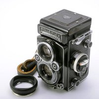 <img class='new_mark_img1' src='https://img.shop-pro.jp/img/new/icons42.gif' style='border:none;display:inline;margin:0px;padding:0px;width:auto;' />ROLLEIFLEX ローライフレックス 3.5F Planar プラナー 75mmF3.5 + 純正ラバーフード