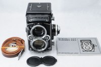 <img class='new_mark_img1' src='https://img.shop-pro.jp/img/new/icons15.gif' style='border:none;display:inline;margin:0px;padding:0px;width:auto;' />ROLLEIFLEX ローライフレックス 2.8F Planar プラナー 80mmF2.8+取説+革ストラップ