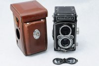 <img class='new_mark_img1' src='https://img.shop-pro.jp/img/new/icons15.gif' style='border:none;display:inline;margin:0px;padding:0px;width:auto;' />ROLLEIFLEX ローライフレックス Tessar 75mm F3.5 テッサー 7.5 + 純正革ケース + 革ストラップ
