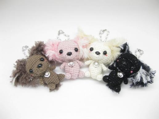 編みぐるみ Fluffy Poodle