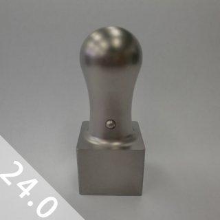 チタン印鑑 ブラストシルバー 角印 24mm