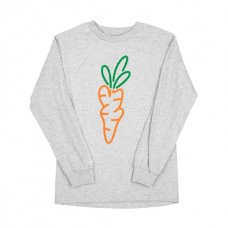 SIGNATURE CARROT LONG SLEEVE TEE- HEATHER GREY