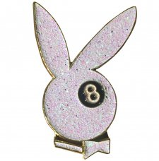 <img class='new_mark_img1' src='//img.shop-pro.jp/img/new/icons5.gif' style='border:none;display:inline;margin:0px;padding:0px;width:auto;' />8BALL BUNNY PIN-WHITE GLITTER