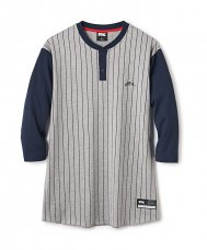 <img class='new_mark_img1' src='//img.shop-pro.jp/img/new/icons5.gif' style='border:none;display:inline;margin:0px;padding:0px;width:auto;' />HENLEY BASEBALL SHIRT 7/S - NAVY