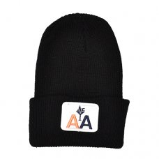 AIRLINE BEANIE - BLACK