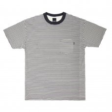<img class='new_mark_img1' src='//img.shop-pro.jp/img/new/icons5.gif' style='border:none;display:inline;margin:0px;padding:0px;width:auto;' />MERCER STRIPE POCKET T-SHIRT (WHITE)