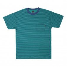 <img class='new_mark_img1' src='//img.shop-pro.jp/img/new/icons47.gif' style='border:none;display:inline;margin:0px;padding:0px;width:auto;' />MERCER STRIPE POCKET T-SHIRT (TEAL)