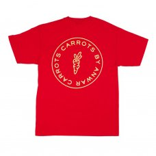 CIRCLE LOGO POCKET T-SHIRT - RED
