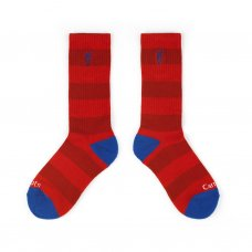STRIPED SOCKS - RED
