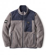 REVERSIBLE SHERPA JACKET - NAVY