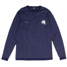 PEEK A NERMAL KNIT L/S (BLUE/WHITE)