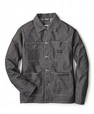 DENIM CHORE JACKET - BLACK