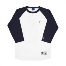 <img class='new_mark_img1' src='//img.shop-pro.jp/img/new/icons5.gif' style='border:none;display:inline;margin:0px;padding:0px;width:auto;' />CARROTS CHAMOMILE - LOGO RAGLAN - NAVY/WHITE