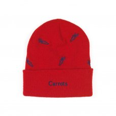 ALL OVER CARROT BEANIE - RED