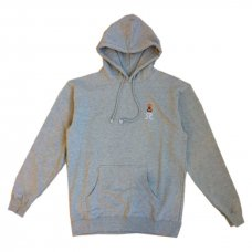 EMBROIDERED HOODIE - GREY
