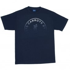 CARROT FADED CIRCLE LOGO T-SHIRT - NAVY