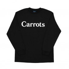<img class='new_mark_img1' src='//img.shop-pro.jp/img/new/icons5.gif' style='border:none;display:inline;margin:0px;padding:0px;width:auto;' />CARROTS WORDMARK LONGSLEEVE T-SHIRT - BLACK