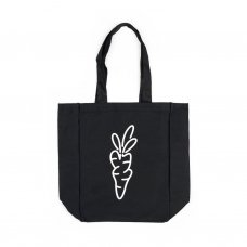 <img class='new_mark_img1' src='//img.shop-pro.jp/img/new/icons5.gif' style='border:none;display:inline;margin:0px;padding:0px;width:auto;' />CARROT LOGO TOTE BAG - BLACK