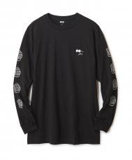 FTC x PEANUTS CHEERS L/S TEE - BLACK