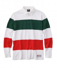 <img class='new_mark_img1' src='//img.shop-pro.jp/img/new/icons5.gif' style='border:none;display:inline;margin:0px;padding:0px;width:auto;' />SRTIPE RUGBY SHIRT - WHITE