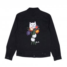 <img class='new_mark_img1' src='//img.shop-pro.jp/img/new/icons5.gif' style='border:none;display:inline;margin:0px;padding:0px;width:auto;' />NERMCASSO FLOWER DENIM JACKET (BLACK)