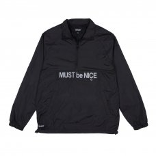 MUST BE NICE HALF ZIP ANORAK JACKET (BLACK 3M)