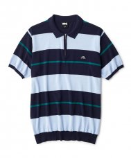 <img class='new_mark_img1' src='//img.shop-pro.jp/img/new/icons5.gif' style='border:none;display:inline;margin:0px;padding:0px;width:auto;' />STRIPED KNIT POLO - NAVY