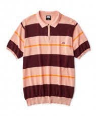 <img class='new_mark_img1' src='//img.shop-pro.jp/img/new/icons5.gif' style='border:none;display:inline;margin:0px;padding:0px;width:auto;' />STRIPED KNIT POLO - ORANGE