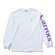 <img class='new_mark_img1' src='//img.shop-pro.jp/img/new/icons5.gif' style='border:none;display:inline;margin:0px;padding:0px;width:auto;' />SIGNATURE CARROT LONGSLEEVE TEE - WHITE