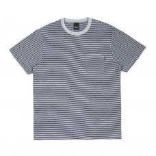 MERCER STRIPE POCKET T-SHIRT - HEATHER GREY